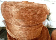 Red Purple Brass Knitted Copper Wire Mesh Tube Sleeve For Demister Cell Kitchen Filter
